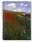 The Poppy Field Spiral Notebook