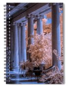 The Porch Of The European Collection Art Gallery At The Huntington Library In Infrared Spiral Notebook