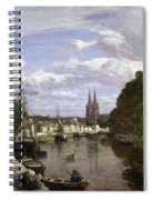 The Port At Quimper Spiral Notebook