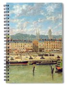 The Port At Rouen Spiral Notebook