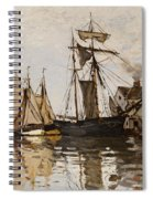 The Port Of Honfleur Spiral Notebook