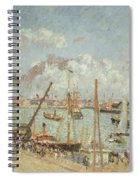 The Port Of Le Havre In The Afternoon Sun Spiral Notebook