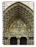 The Portal Of The Last Judgement Of Notre Dame De Paris Spiral Notebook