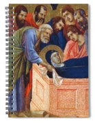 The Position Of Mary In The Tomb Fragment 1311 Spiral Notebook