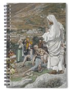 The Possessed Boy At The Foot Of Mount Tabor Spiral Notebook