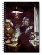 The Potato Eaters, By Vincent Van Gogh, 1885, Kroller-muller Mus Spiral Notebook