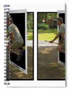 The Potter Effect - Gently Cross Your Eyes And Focus On The Middle Image Spiral Notebook
