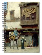 The Pottery Seller In Old City Spiral Notebook