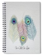 The Power Of Three Be Wild Be Free  Spiral Notebook