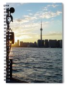 The Precision Of Sunset In The Harbour Spiral Notebook