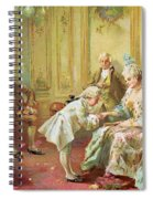 The Presentation Of The Young Mozart To Mme De Pompadour At Versailles Spiral Notebook