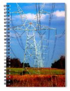 The Progression Of Progress - Electrified Spiral Notebook
