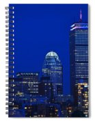 The Pru Lit Up In Red White And Blue For The Fourth Of July Spiral Notebook