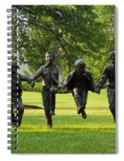 The Puddle Jumpers At Byers Choice Spiral Notebook