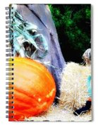 the Pumpkin and the Scarecrow Spiral Notebook