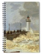 The Quay At Le Havre Spiral Notebook