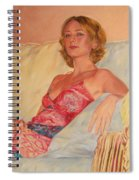 The Queen At Her Ease Spiral Notebook