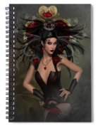 The Queen Of Hearts Spiral Notebook