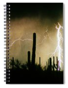 The Quiet Southwest Desert Lightning Storm Spiral Notebook