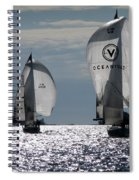 Sails Up - The Race Is On Spiral Notebook