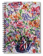 The Rainbow Flowers Spiral Notebook
