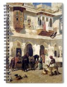 The Rajah Starting On A Hunt Spiral Notebook