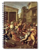 The Rape Of The Sabines Spiral Notebook