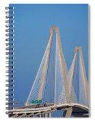 The Ravanel Bridge In Charleston Spiral Notebook