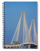 The Ravanel Bridge In Charleston Spiral Notebook