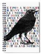 The Raven Poem Art Print Spiral Notebook
