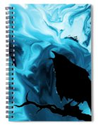 The Raven's Blues Spiral Notebook