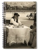 The Realistic Mystic-sepia Spiral Notebook
