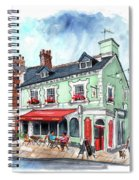 The Red Boat In Beaumaris Spiral Notebook