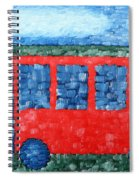 The Red Bus Spiral Notebook