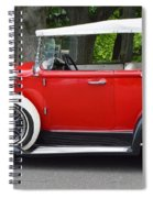 The Red Convertible Spiral Notebook