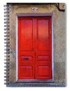 The Red Door. Spiral Notebook