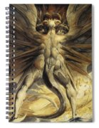 The Red Dragon And The Woman Clothed In Sun Spiral Notebook