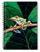 The Red Eyed Tree Frog Spiral Notebook