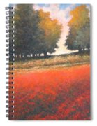 The Red Field #2 Spiral Notebook