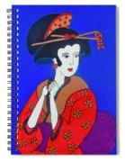 The Red Geisha Spiral Notebook