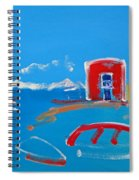 The Red House  La Casa Roja Spiral Notebook