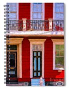 The Red House-nola-faubourg Marigny Spiral Notebook