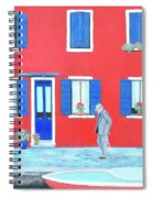 The Red House On The Island Of Burano Spiral Notebook