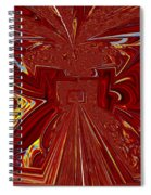 The Red Palace In Abstract Spiral Notebook