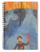 The Red Rose Spiral Notebook