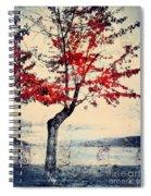 The Red Tree At Okanagan Lake Spiral Notebook