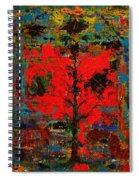 The Red Tree -or- Paint Spiral Notebook