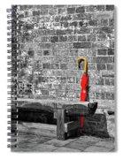 The Red Umbrella 2 Spiral Notebook