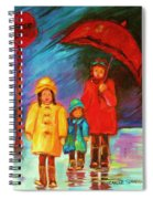 The Red Umbrella Spiral Notebook