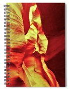 The Reddish Yellow Path Spiral Notebook